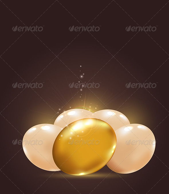 GraphicRiver Golden Easter Eggs 4318235
