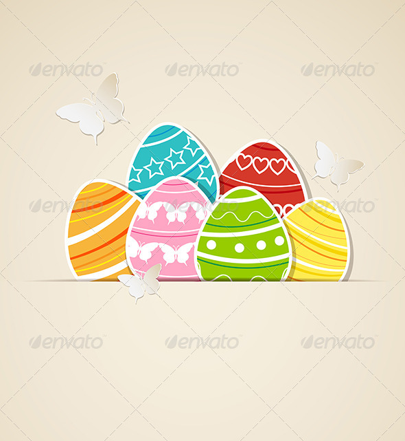 GraphicRiver Paper Easter Background 4318302