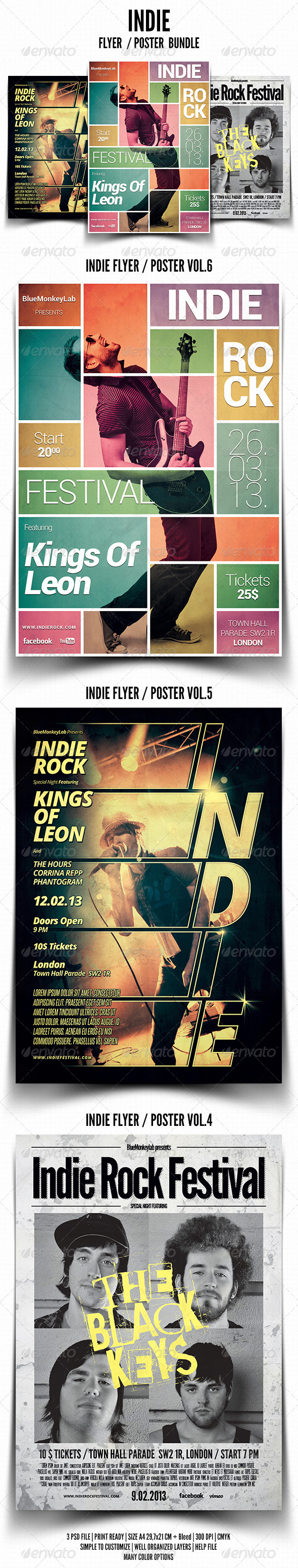 Indie Flyer / Poster Bundle 2 - Events Flyers