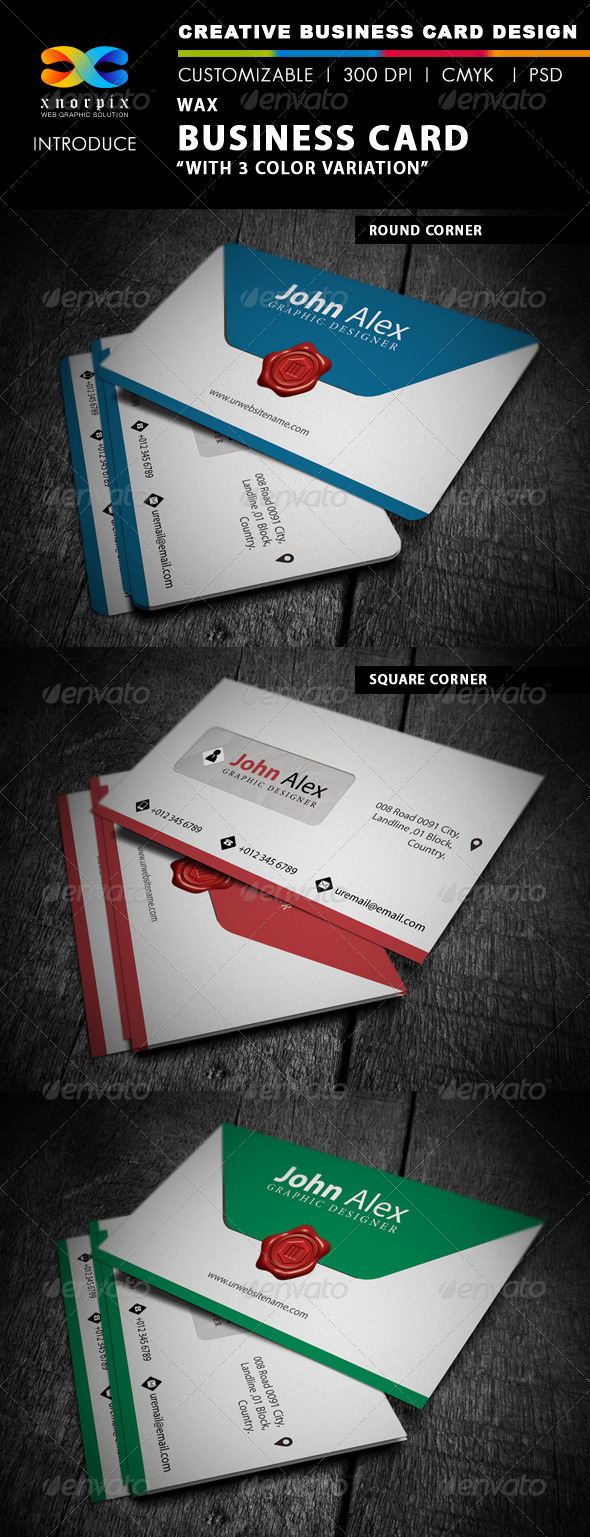 GraphicRiver Wax Business Card 4318529