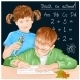 Boy and Girl with Education Objects - GraphicRiver Item for Sale