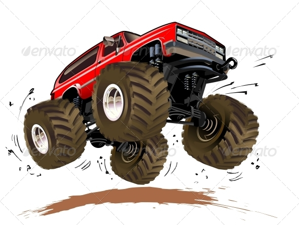 GraphicRiver Cartoon Monster Truck 4318565