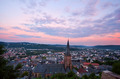 cityscape of Marburg at sunset