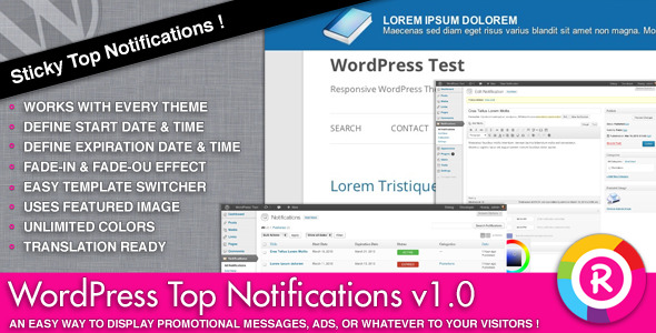 CodeCanyon WordPress Top Notifications 4318720