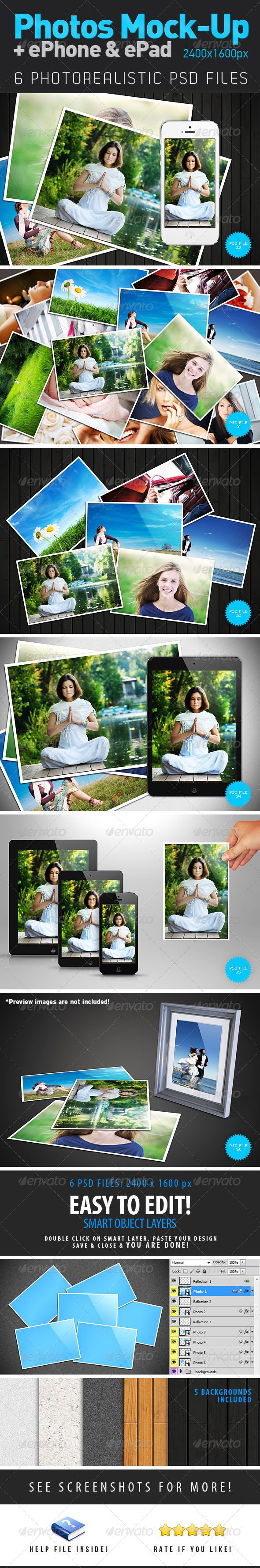 GraphicRiver Photos & ePhone & ePad Mock-Up 4318983