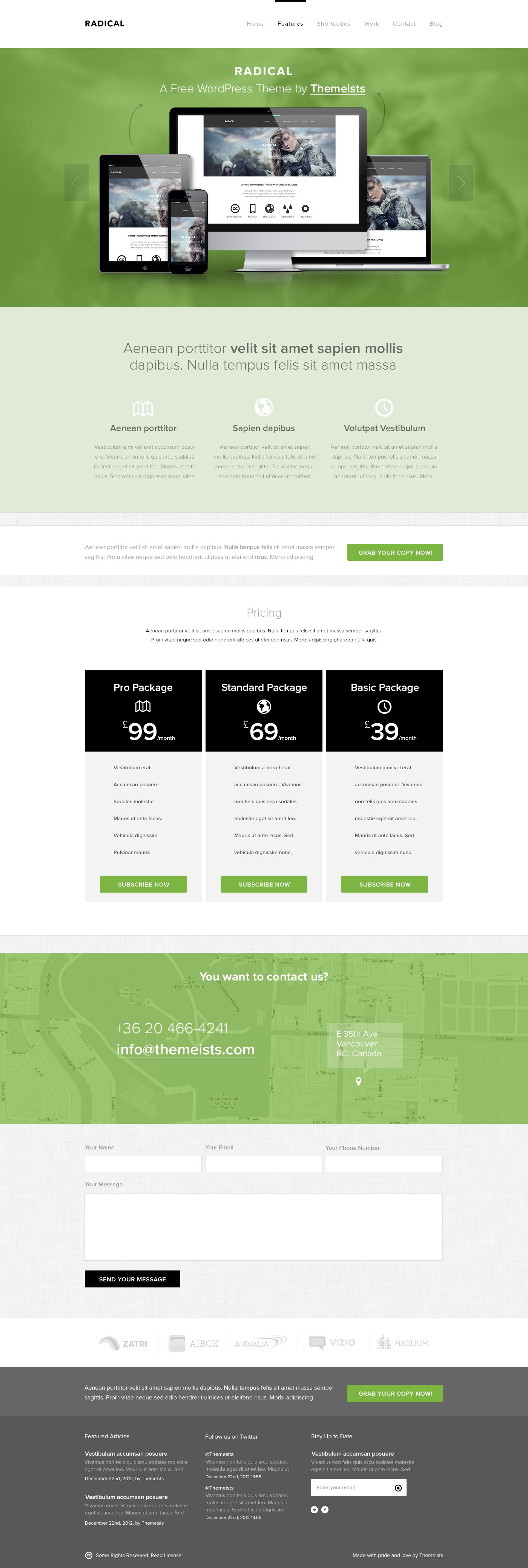 Radical - Single Page PSD Template