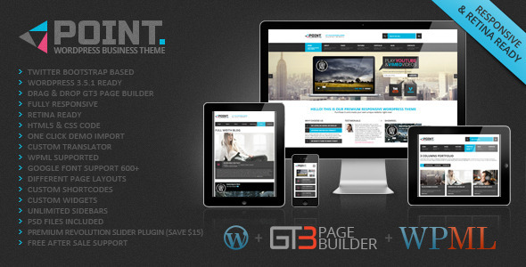 ThemeForest Point Business Responsive WP Theme 4319087
