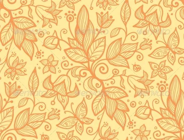 GraphicRiver Abstract Ornate Flower Seamless Pattern 4319153