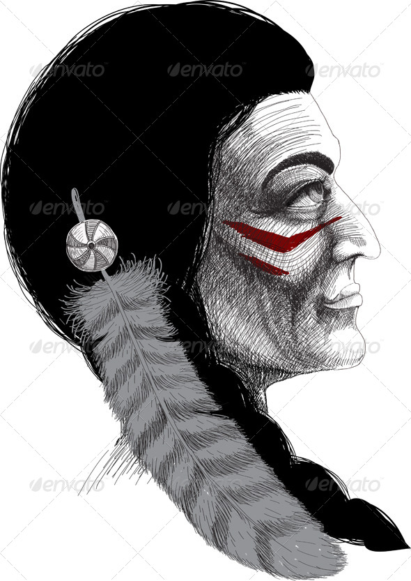 GraphicRiver Portrait of an Indian Warrior 4319747