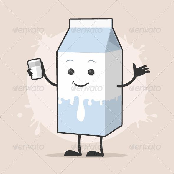 Milk Cartoon Character