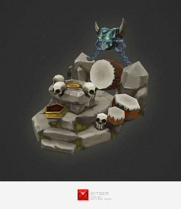 3DOcean Low Poly RTS Orc Altar 4320028
