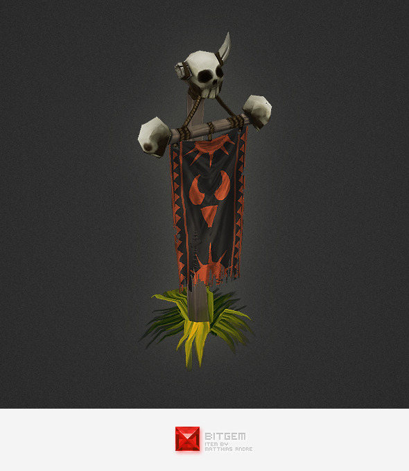 Low Poly RTS Orc Banner - 3DOcean Item for Sale