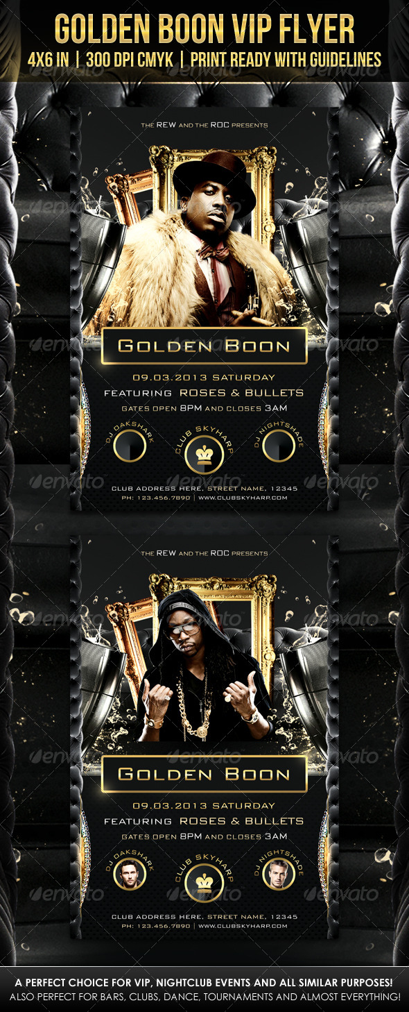 GraphicRiver Golden Boon VIP Flyer 4129269