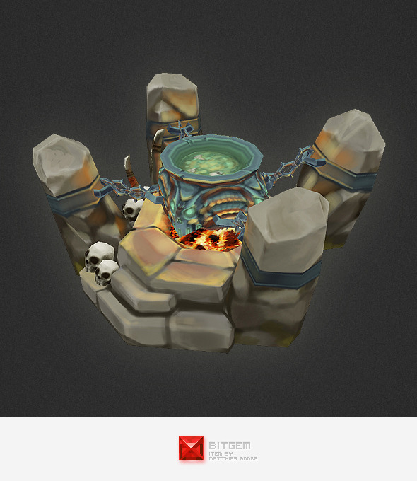 3DOcean Low Poly RTS Orc Cauldron 4320151