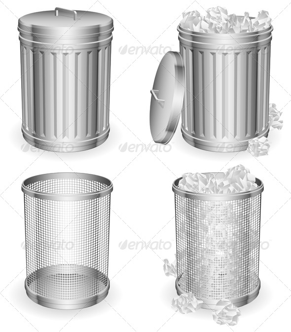 GraphicRiver Trash Cans 4320164