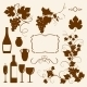 Winery Design Objects Silhouettes