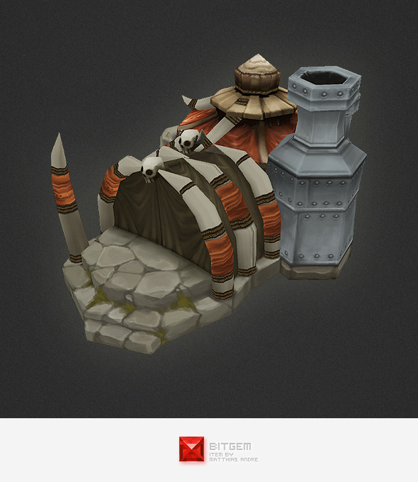 3DOcean Low Poly RTS Orc Factory 4320176