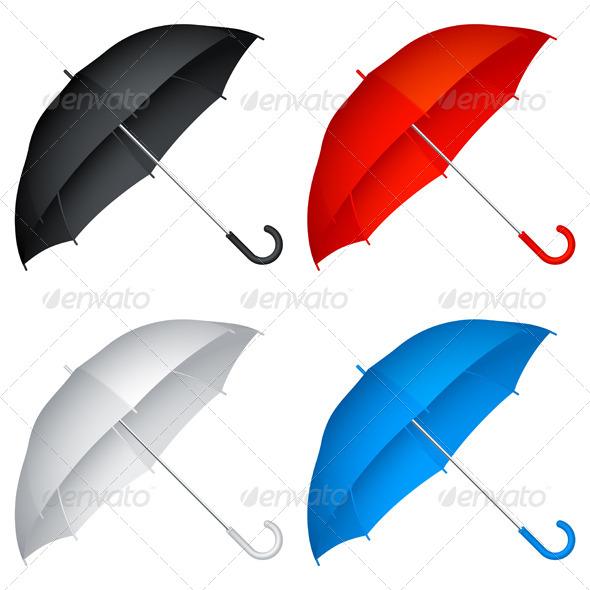 GraphicRiver Umbrellas 4320179