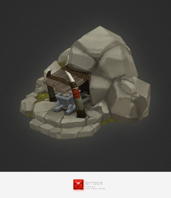 3DOcean Low Poly RTS Orc Mine 4320306