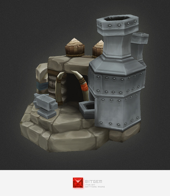 3DOcean Low Poly RTS Orc Smithy 4320329