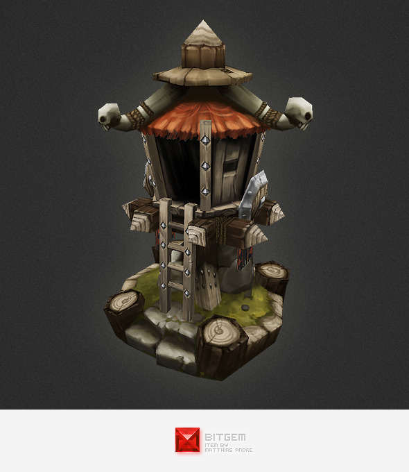 3DOcean Low Poly RTS Orc Tower 4320363