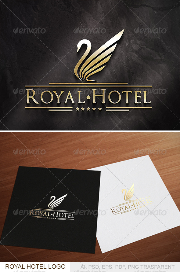 Royal Hotel Logo - Animals Logo Templates