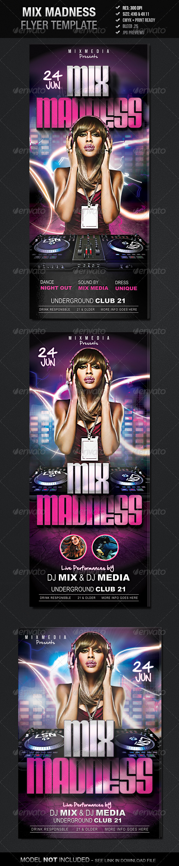 GraphicRiver Mix Madness Flyer Template 4320594