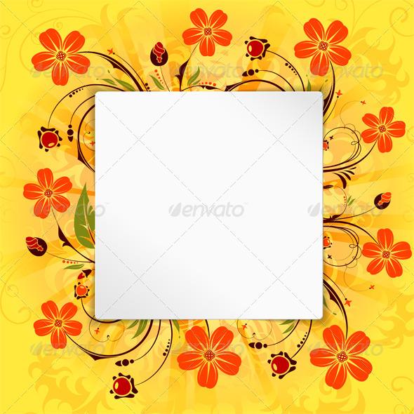 GraphicRiver Flower Frame 4320783