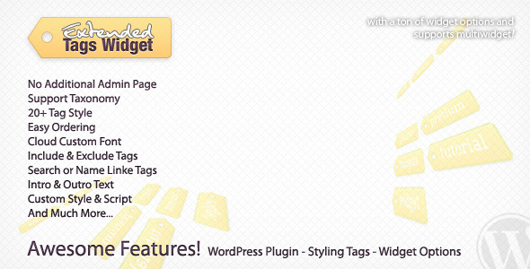 Extended Tags Widget – WordPress Premium Plugin