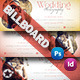 Wedding Photography Billboard Template - GraphicRiver Item for Sale