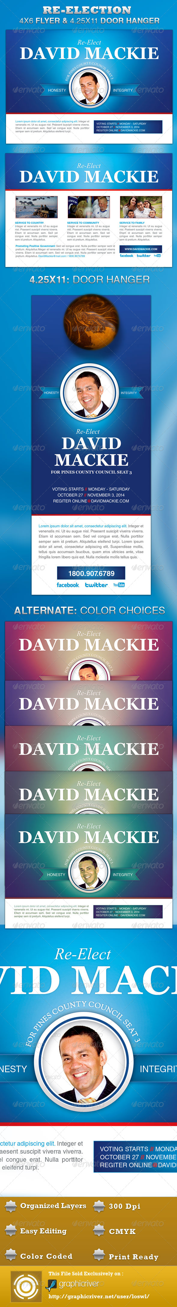 GraphicRiver Re Election Flyer and Door Hanger Template 4321086