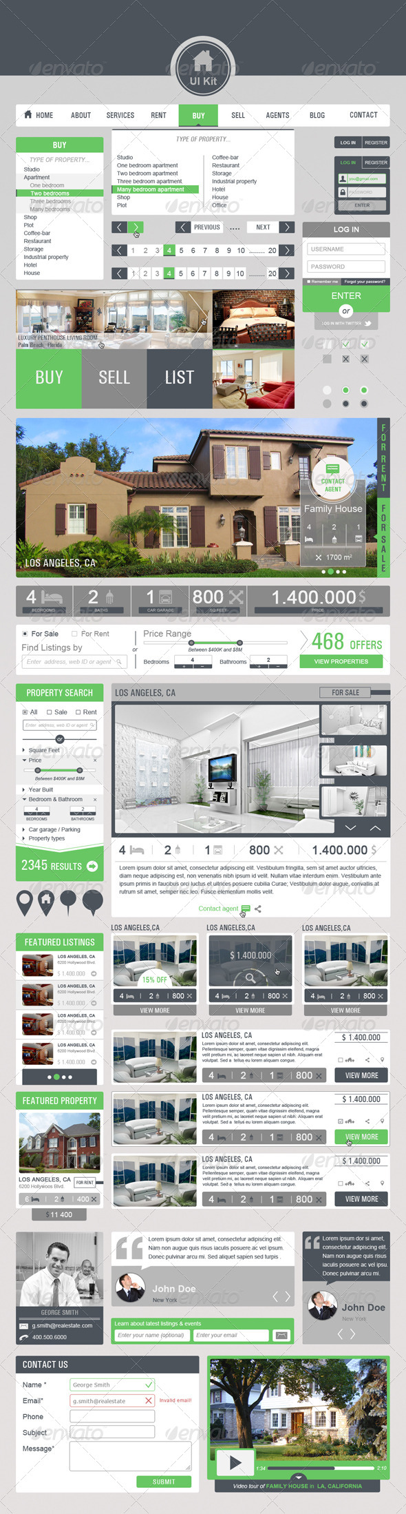 GraphicRiver Real Estate Ui Kit 4321116