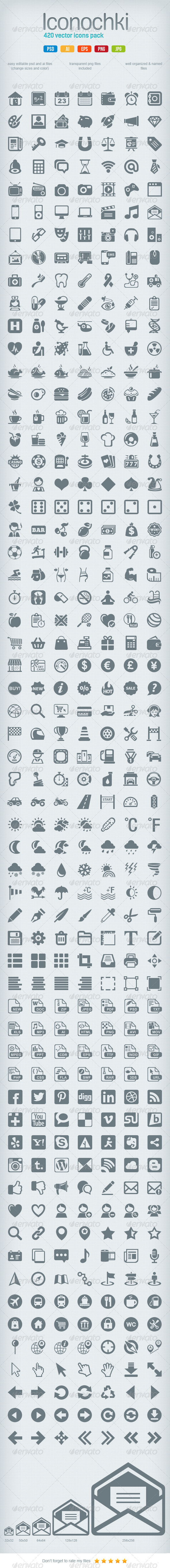 GraphicRiver Iconochki set 4288197