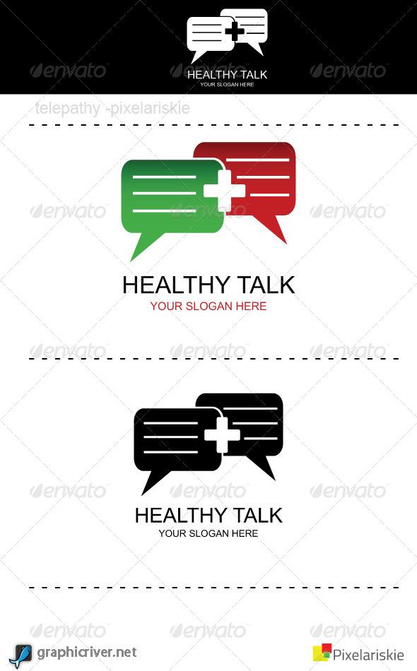 GraphicRiver Healthy Talk Logo 4321362