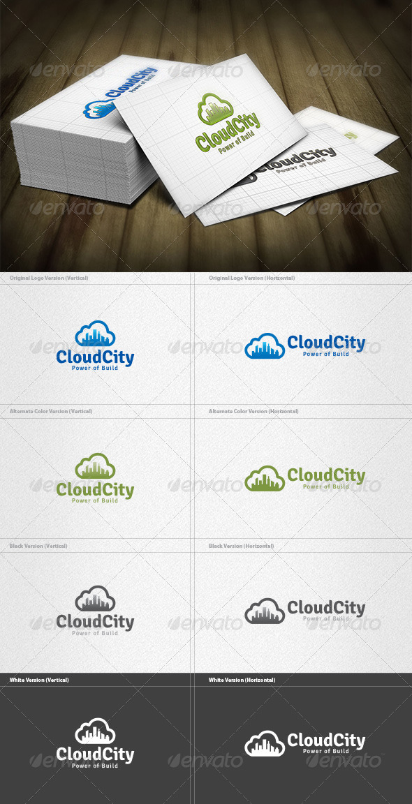 Cloud City Logo - Buildings Logo Templates