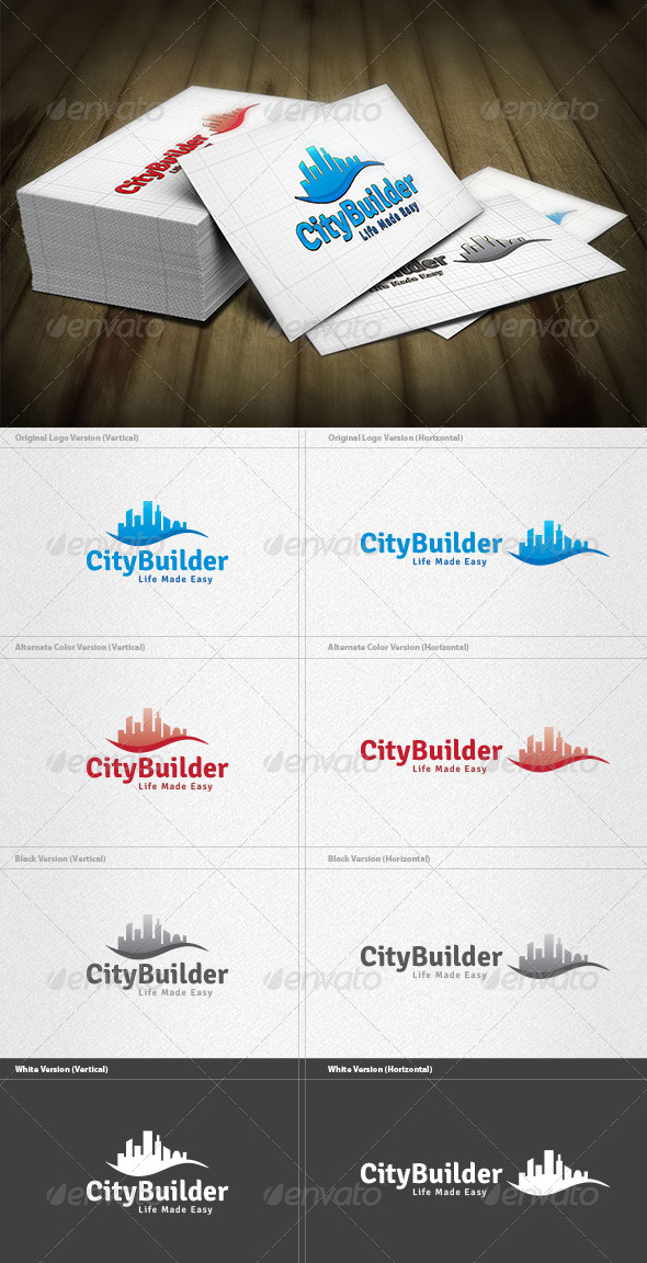City Builder Logo - Buildings Logo Templates