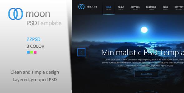 ThemeForest Moon PSD Template 4299672