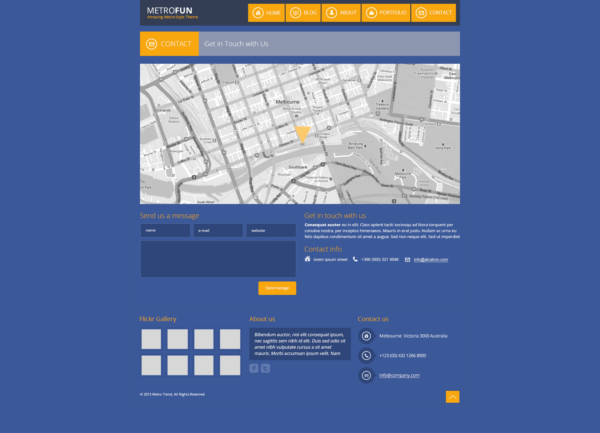 Metrofun - Metro Style HTML Theme