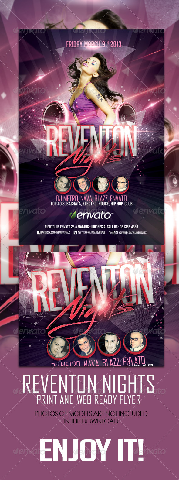 GraphicRiver Reventon Nights Flyer 4189184