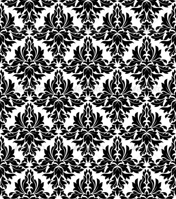 GraphicRiver Seamless Background in Retro Damask Style 4322150