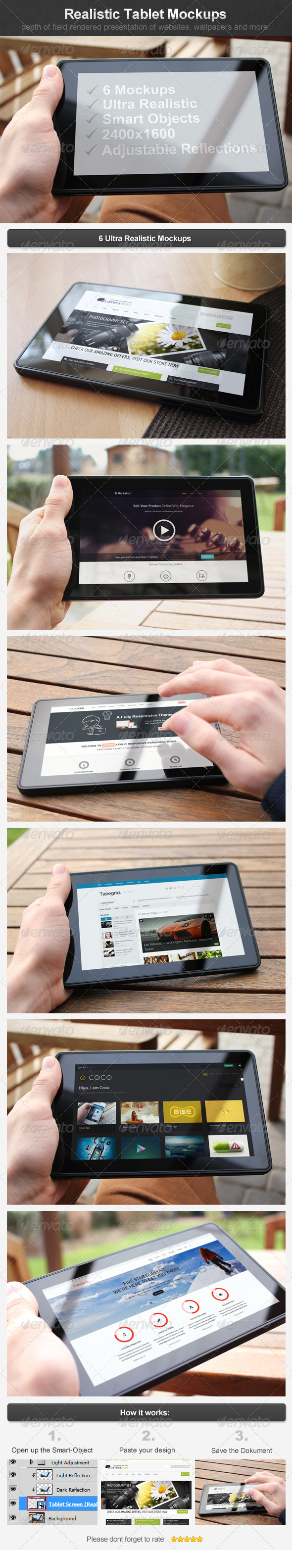 Realistic Tablet Mockups - Mobile Displays