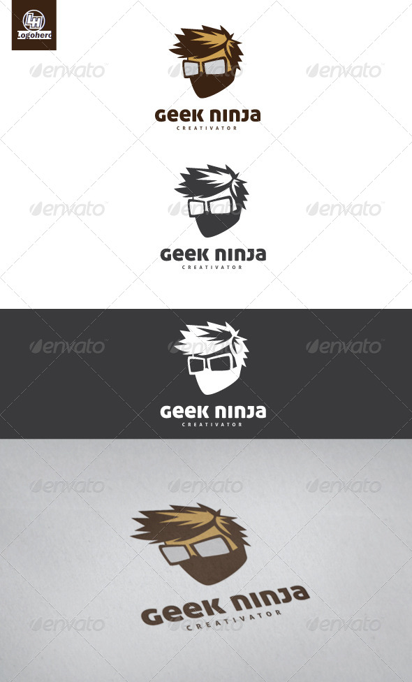 GraphicRiver Geek Ninja Logo Template 4322347
