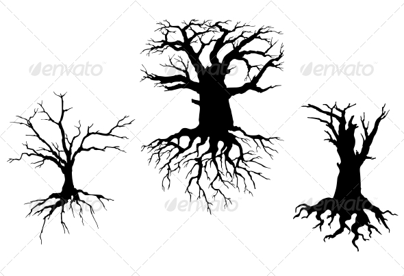 GraphicRiver Dead Trees for Ecology Design 4322531