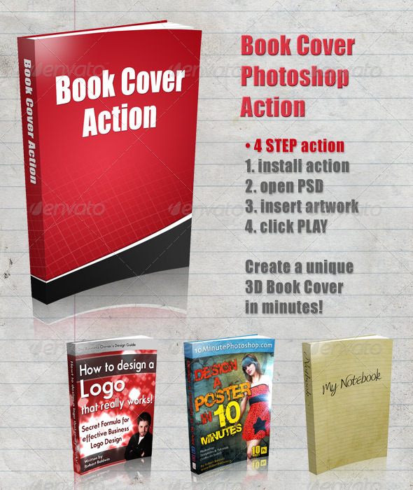 GraphicRiver 3D Book Cover Action 4322586