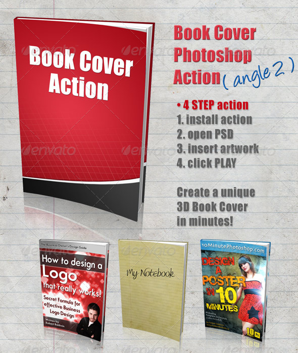 GraphicRiver 3D Book Cover Action Angle 2 4322587