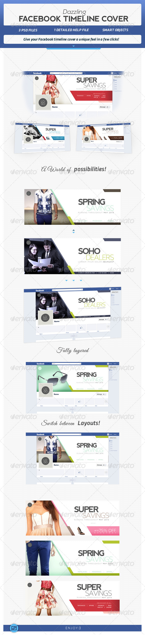 GraphicRiver Dazzling Facebook Covers 4322818