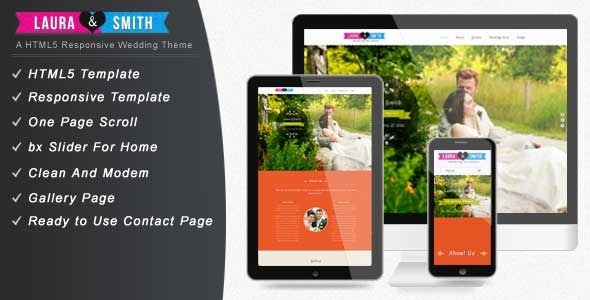 ThemeForest Wedding Single Page Website Template 4322879