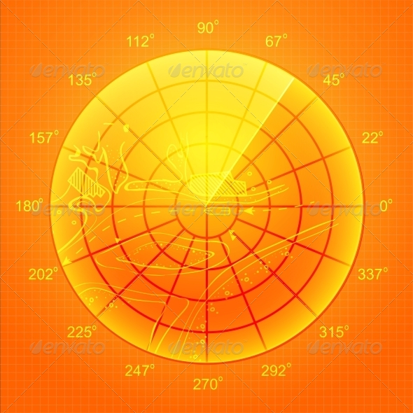 GraphicRiver Orange Radar Screen 4323888