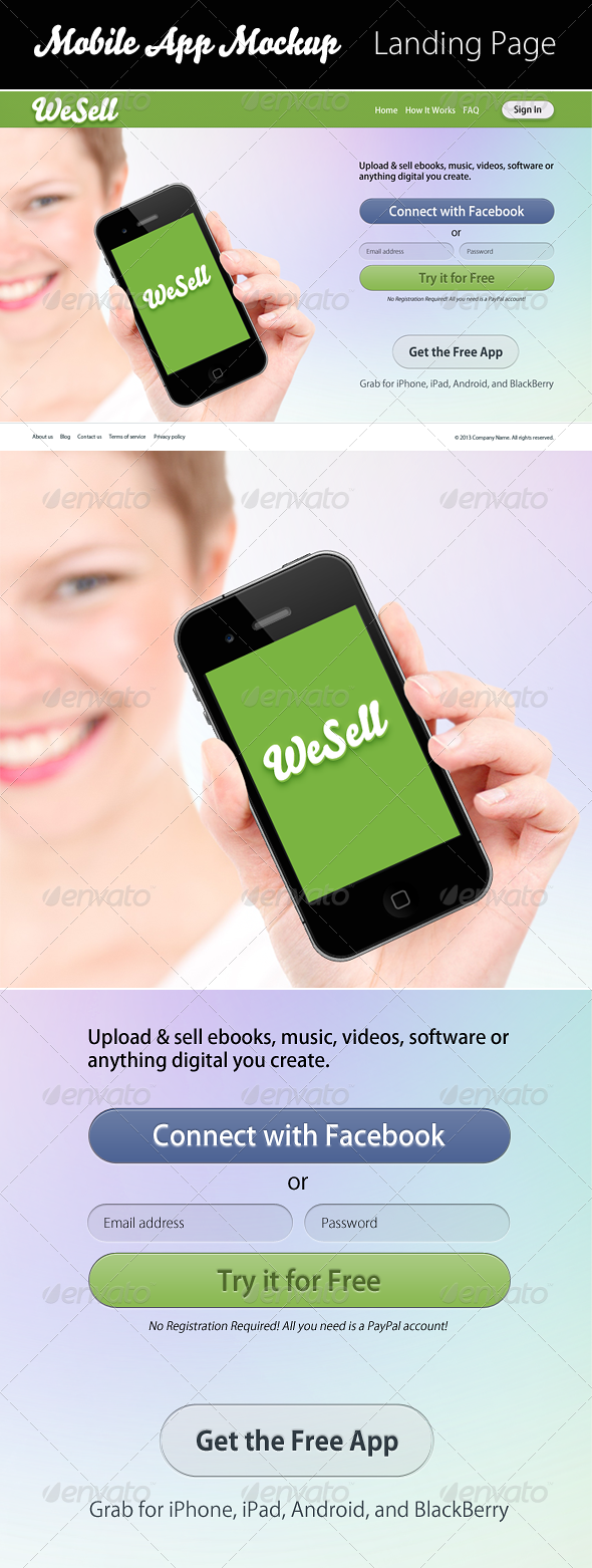 GraphicRiver WeSell Mobile App Mockup 4324693