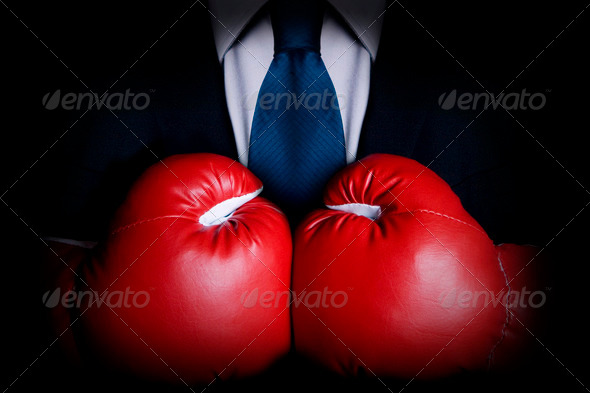 Tough businessman - Stock Photo - Images